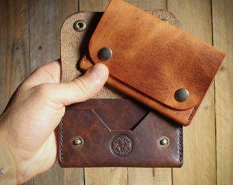 Cuero billeteras cuero Horween, billetera, monedero, hombres billetera, monedero hecho a mano, cuero tarjeta titular, titular de la tarjeta, cuero accesorios motorista