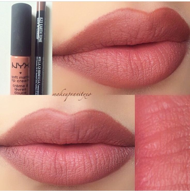 NYX Lip liner- earth tone Matte lip cream- Stockholm