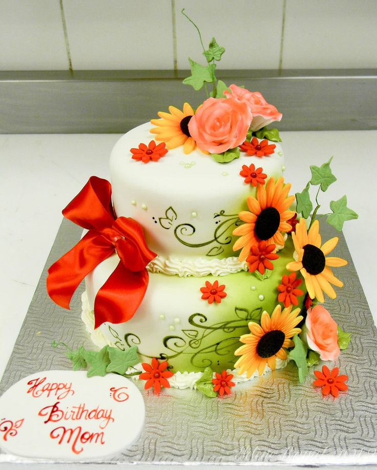 19 best BIRTHDAY CAKES images on Pinterest Flower birthday cakes