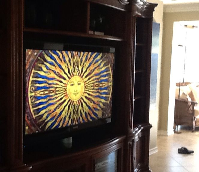 My Sun Painting Featured on the CBS Sunday Morning show October 05, 2014 did you see it shine? XO