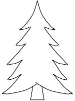 CAN USE FOR TEMPLATE TOO  Kids Under 7: Pine Trees coloring pages