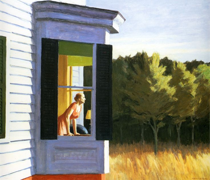 Possibly my favourite Edward Hopper painting - who hasn't felt that yearning feeling while looking out of a window?