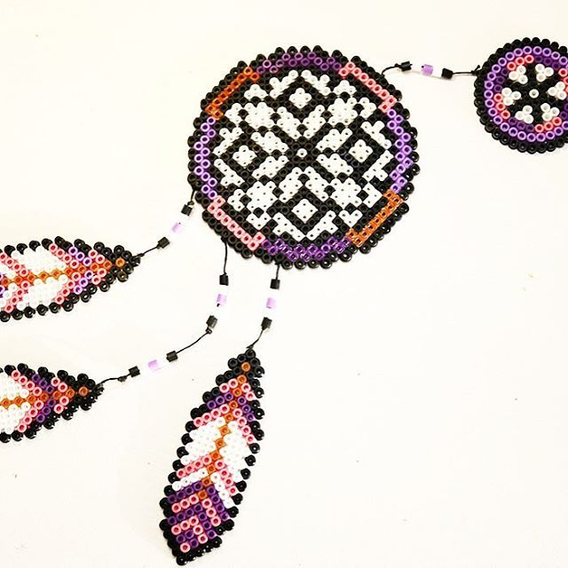DIY Dreamcatcher nabbi beads by diysweden