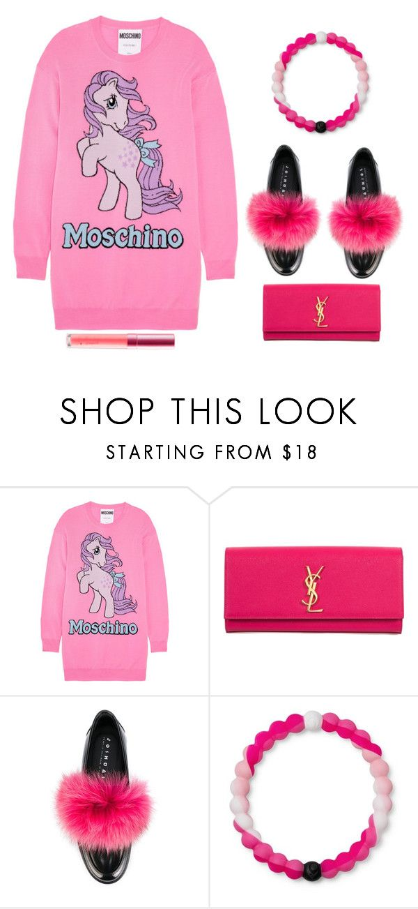 """""""#1065"""" by aria-star ❤ liked on Polyvore featuring Moschino, Yves Saint Laurent, Joshua's, Lokai, Pink and fashionset"""
