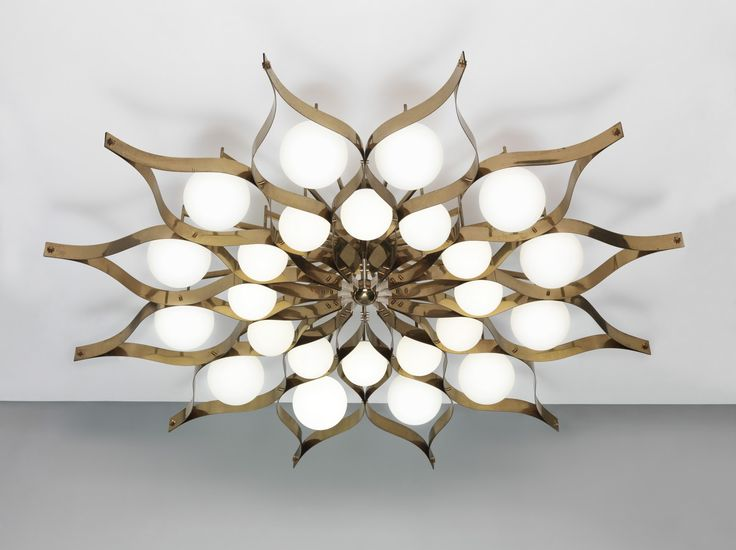 Gio Ponti Chandelier: Gio Ponti light fixture for for the Hotel Parco dei Principi, Rome 1964,Lighting