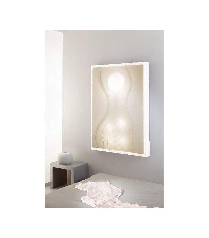 In-es.artdesign - Quadro luce Lunar Dance #inesartdesign #artdesign #nebulite #design #lamp #madeinitaly #lunardance #dance #light #panel #lightpanel