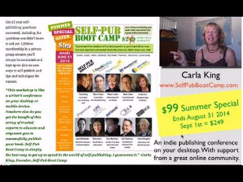 Self-Publishing is Cheap This Summer! Check This Boot Camp Special at SelfPubBootCamp.com