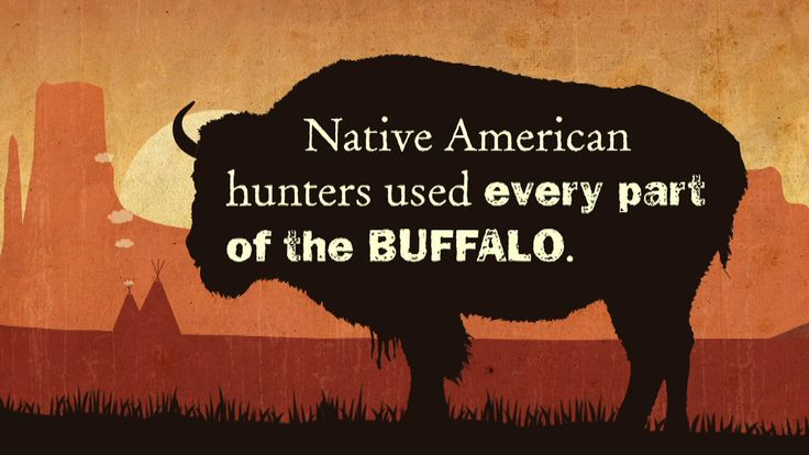The buffalo was an essential part of Native American life, used in everything from religious rituals to teepee construction.
