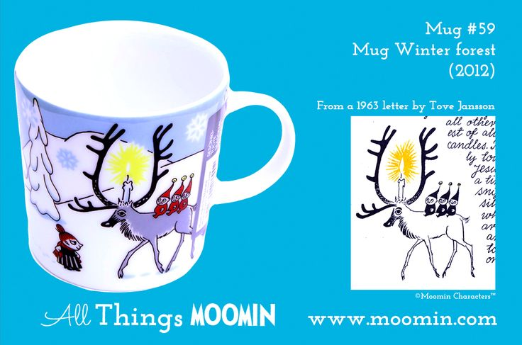 59 Moomin mug Winter forest