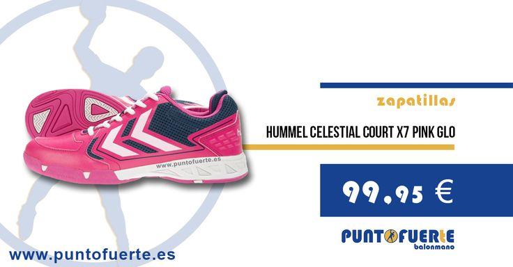 """#Hummel #CelestialCourtX7 #PinkGlo Una zapatilla espectacular para las """"guerreras"""" de nuestro deporte. ¡Porque vosotras lo valéis! Hazte con la tuya en www.puntofuerte.es"""