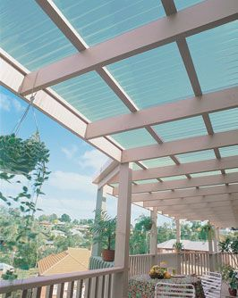 Tuftex Clear Corrugated Plastic Roof Panels