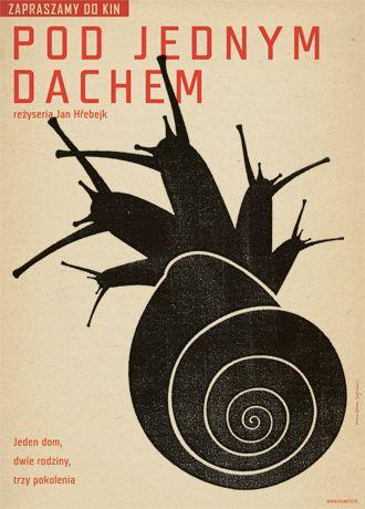 Pod jednym dachem, Polish movie poster 2007 (Under one roof) by Studio Homework