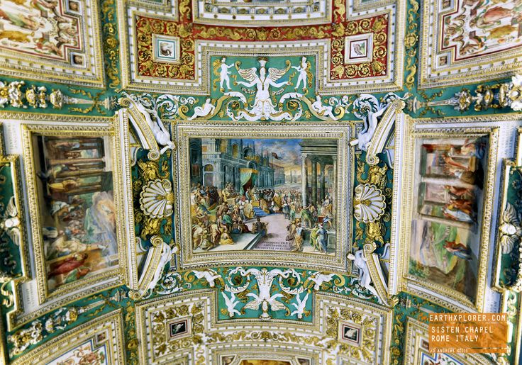 Gorgeous Art - Looking up in the Hallway - Sistine Chapel
