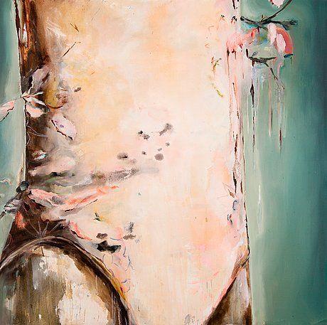 Anna TUORI, Sweet bird Öljy kankaalle 130x130cm