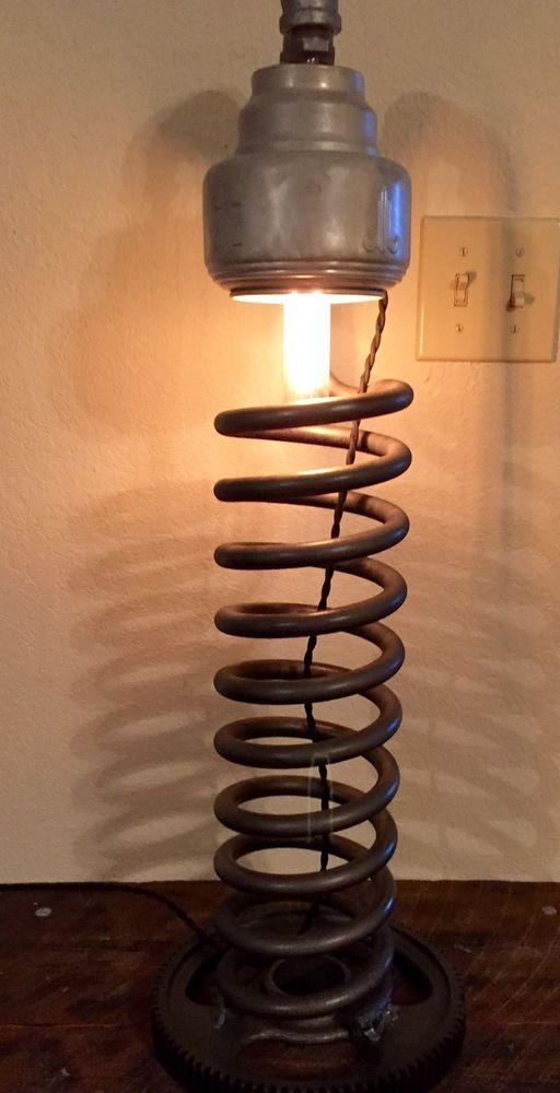 Steampunk Industrial Lamp Repurposed Heavy Spring Pipe Light Edison Style Bulb
