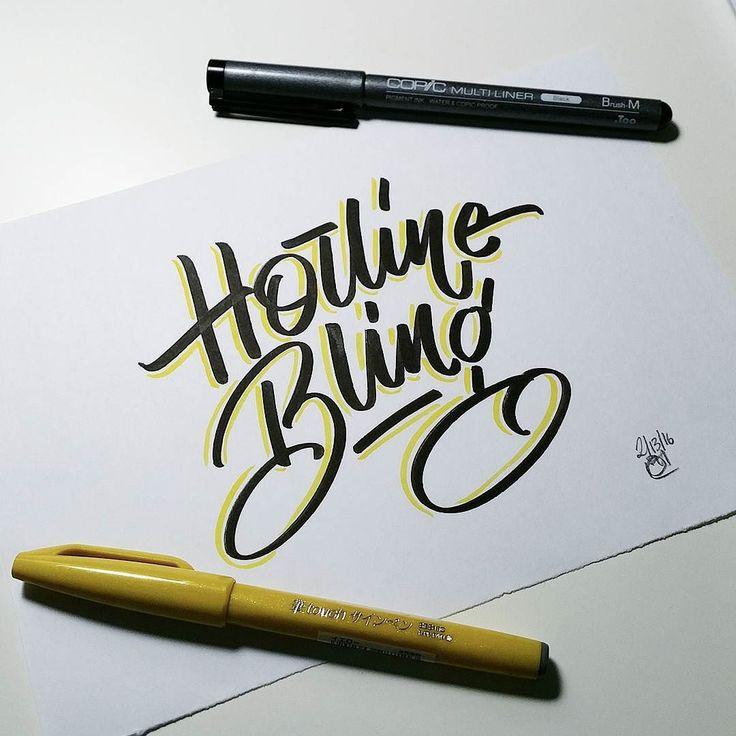 Hotline bling bling bling brush type  #brushtype #brushpen #brushlettering  #lettering #handdrawntype #handwriting #handwritten #brush #calligritype #thedesigntip #thedailytype #typedaily #typegang #handtype #handmadefont #bling #brushcalligraphy #typespire #typekita #pin