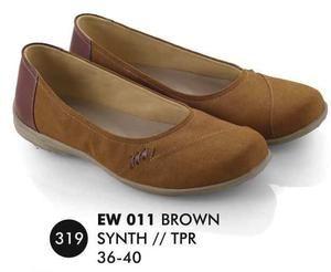 Sepatu Flat Wanita Casual Trendy [EW 011] (Brand Everflow) Free Ongkir