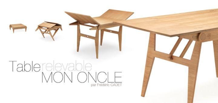 Table haute et basse - modulable pour petits espaces
