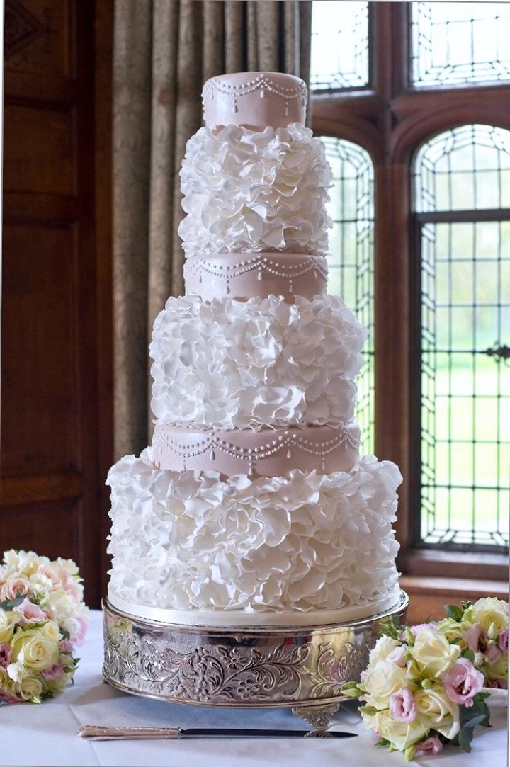 Beautiful And Elegant Blush Wedding Cake Celebrate In Style