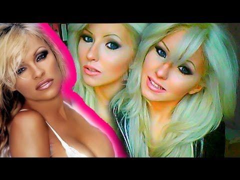 Pamela Anderson Hair & Makeup Tutorial super great trick for winged eyes easy easy method