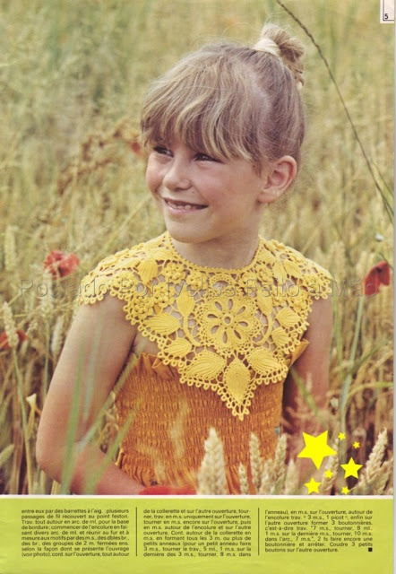 Ivelise Feito à Mão: Linda Golinha Em Crochê Irlandês! crochet yoke pattern