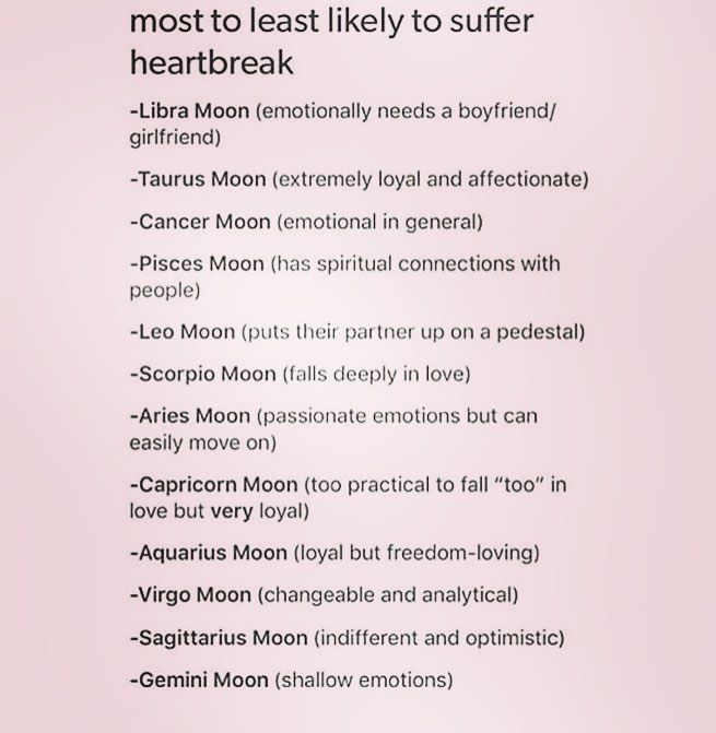 in theory, this may be correct however you must also take into account venus, the houses in which both the moon and venus fall in, as well as aspects between these planets. my sister was a gemini moon and she has been heartbroken since last summer. she's barely getting over it, it's already march. people are still people, folks!!