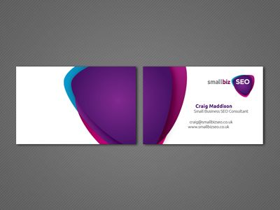 business card design (front and back cohesion)