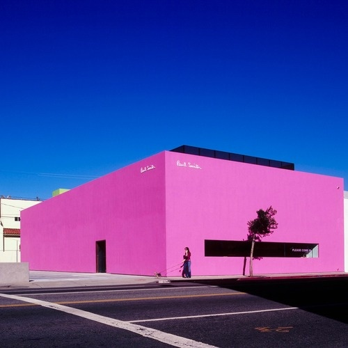 "Los Angeles | Paul Smith   ""I love Melrose Avenue and hope this bright pink box becomes an LA landmark"""