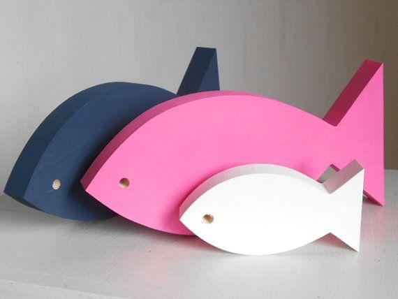 Navy+pink+and+white+fish++Modern+Nautical+by+TheSeasideKids