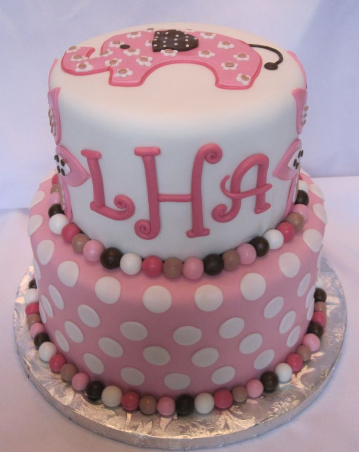 Elephant Cakes With Marshmallow Fondant | Heatheru0027s Cakes And Confections:  Pink Elephant