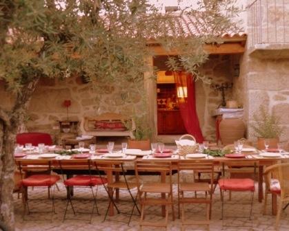 um jantar de verão