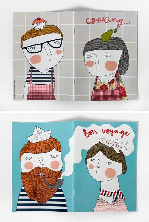 sweet illustrations by veronica de arriba