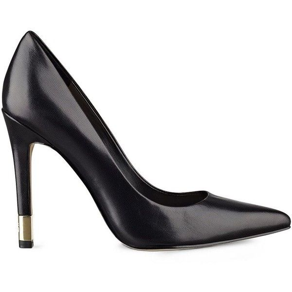GUESS Babbitta Pointed-Toe Pumps ($99) ❤ liked on Polyvore featuring shoes,