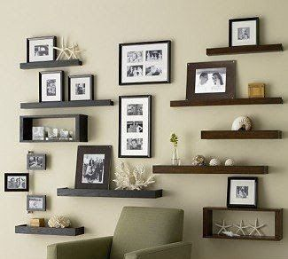 ideas para decorar tu hogar con repisas de madera flotantes