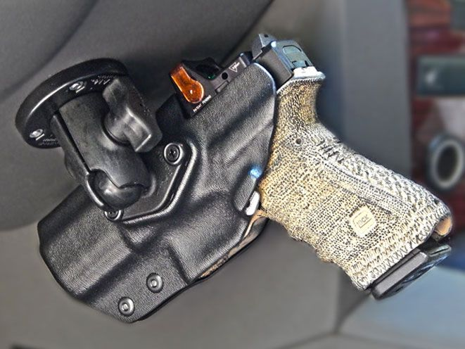 The Ultimate Holster Mounting System: the rugged and reliable Dara Holster, coupled with America's leading Mounting Structures- RAM Mounts.