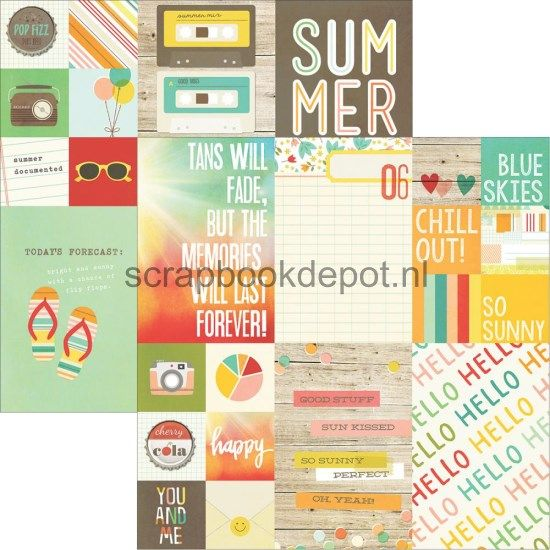 Scrapbookdepot - Simple Stories Summer Vibes - 2x2 & 4x6inch Elements