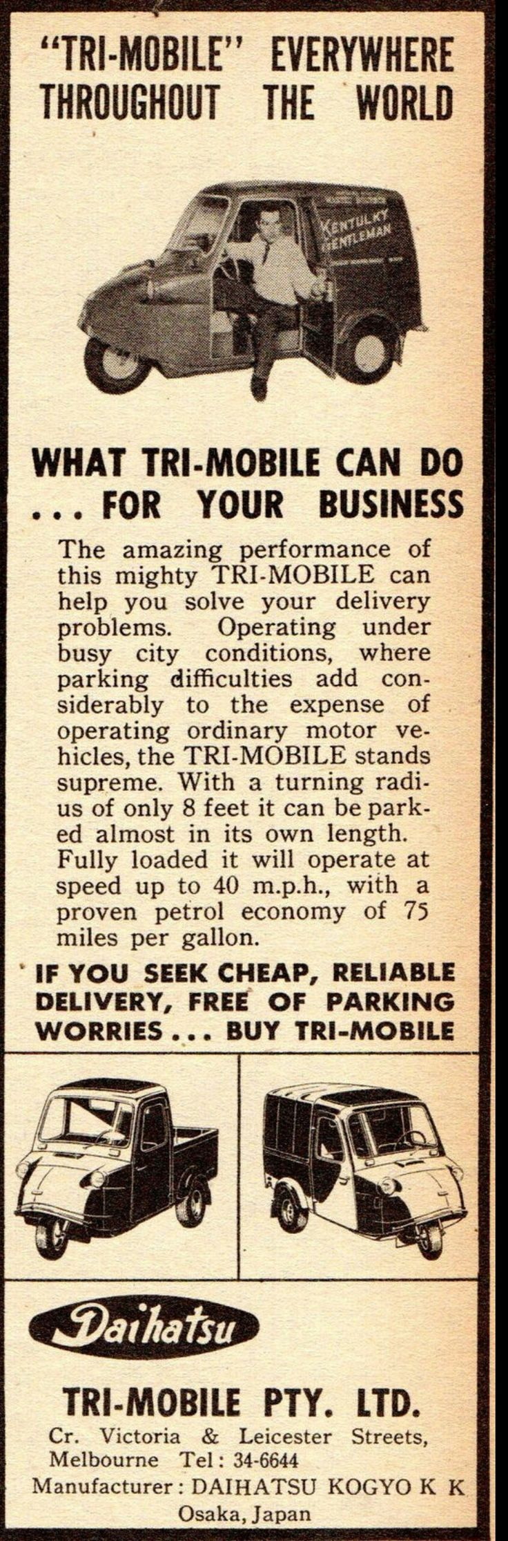 1960 Daihatsu Tri-Mobile - Australia