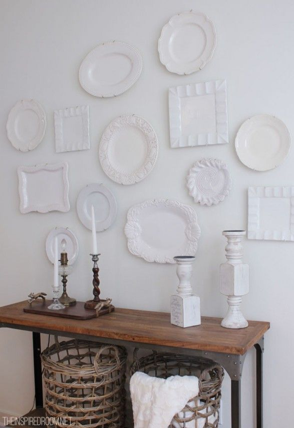 Best 25 plates on wall ideas on pinterest plate wall for What to hang on dining room walls