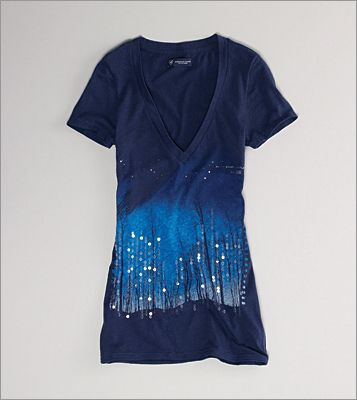 Sparkle: Sequin Starry Night T-shirt, AE.com and American Eagle Outfitters store locations, $24.50.