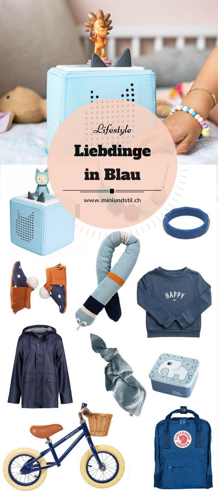Schöne Dinge in Blau // Für Kinder zum Spielen, Anziehen und Kuscheln. Meine Favoriten: Die Toniebox und das Banwood Bike! www.miniundstil.ch
