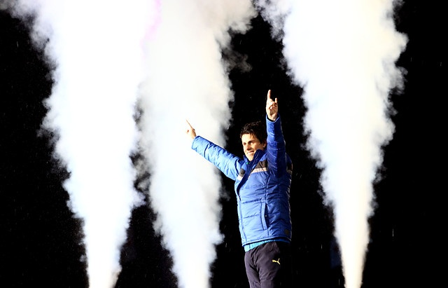 5 de Junio de 2012, SANTIAGO. Diego Rivarola, durante su partido de despedida, jugado en el estadio Nacional. FOTO: JAVIER VALDES LARRONDO /AGENCIAUNO