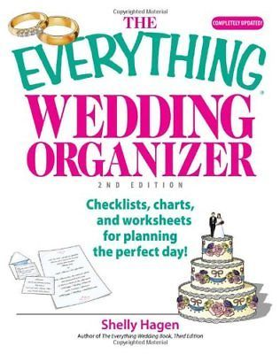 EVERYTHING WEDDING ORGANIZER: CHECKLISTS, CHARTS, AND WORKSHEETS By Shelly NEW