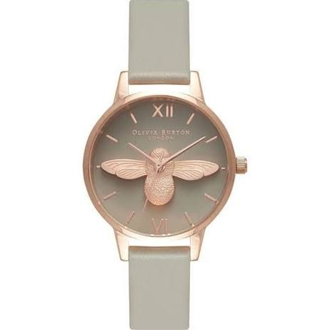 Olivia Burton Moulded Bee Grey Dial And Rose Gold OB15AM77 – EXCLUSIVE - Olivia Burton Watches at Goldsmiths