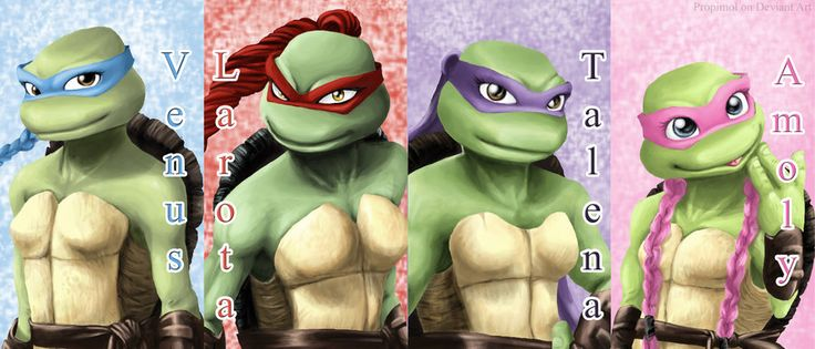TMNT+as+Girls | TMNT Girls wallpaper by propimol