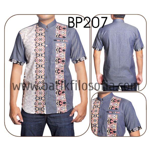Kemeja Koko Kombinasi Denim dengan Kode BP207, merupakan batik printing yang terbuat dari bahan katun dan dikombinasikan dengan bahan soft denim. Harga untuk kemeja batik kode 207 ini adalah Rp.225.000