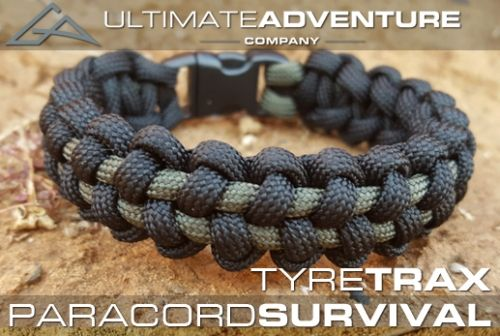 Ultimate Adventure Company Paracord Survival Bracelet Tyre-Trax