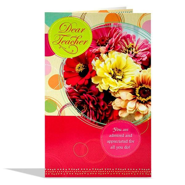 Greeting Card For Teacher Dear Teacher you are admired and appreciated for all you do !...........   Rs. 224   Shop Now   https://hallmarkcards.co.in/collections/teachers-day/products/handmade-cards-for-teachers-day