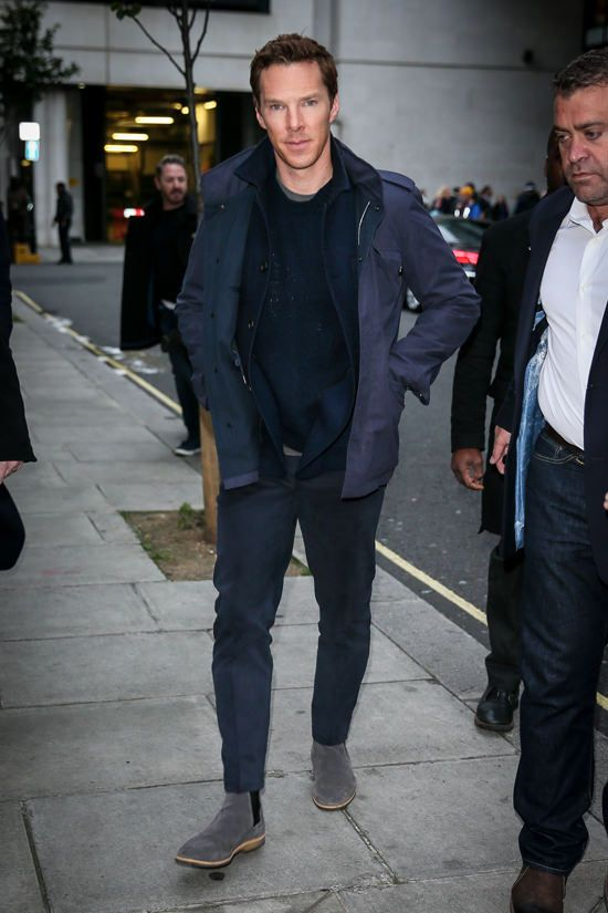 """Benedict Cumberbatch is spotted leaving BBC Radio One studios after promoting his new film """"Doctor Strange"""" in London, UK."""