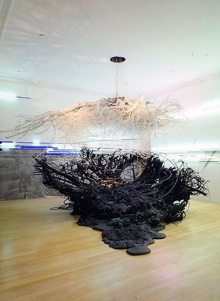 Judy Pfaff. Buckets of Rain, 2006. Installation at Ameringer | McEnery | Yohe.