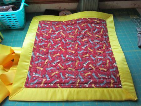 Wide Blanket binding using packaged silk binding